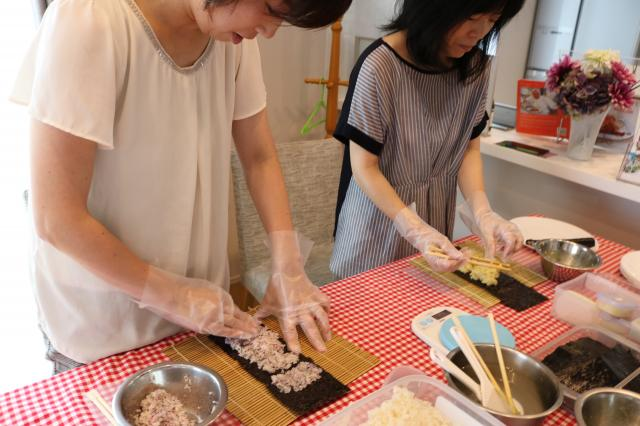 東京 横浜 岡山 ジビエ料理教室&飾り巻きずしレッスン Taeko's kitchenスクール:三ッ星レッスン 岡山